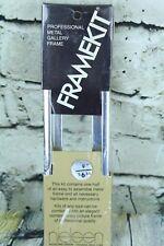 """VTG Nielsen Picture Frame Kit FrameKit Brushed Chrome 9"""""""