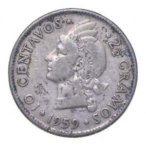 Better - 1959 Dominican Republic 10 Centavos - TC *916