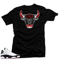 Shirt to Match Jordan 13 He Got Game Sneakers.Bull13 Black Tee