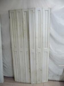7700. Paar alte Fensterläden Klappladen Falttür je 3-flg. 212 cm hoch x 109 cm
