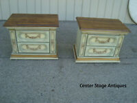 58773 Pair Decorator Nightstand End Table Stands Romantic Shabby finish