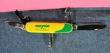 """""""Giesen&Forsthoff Solingen""""  Yellow&Green   Multi-Tool  Pocket Knife c.1976's"""
