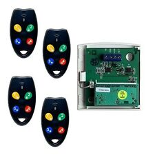 Remote Kit For Ness & Clipsal Alarm Systems (1 x Receiver + 4x RK4B Remotes)