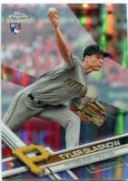 Rays TYLER GLASNOW 2017 Topps Chrome RC REFRACTOR Rookie SP