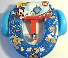 New Disney Junior Mickey Soft Potty Toilet Training Seat With Hook Never Used