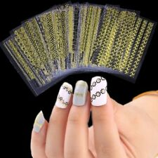 24Pcs Gold 3D Beauty Stripe Decals Manicure Decor DIY Tips Nail Art Sticker