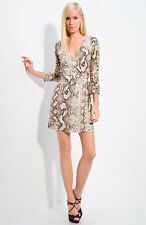 DropDead Gorgeous Sexy JUST CAVALLI Python Snake Print Wrap Dress L