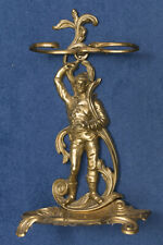 Solid Brass umbrella and walking stick stand period ornate Vintage
