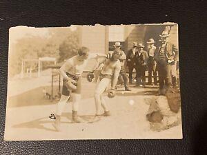 Original 1910's James Jeffries Boxing Photo Type 1 PSA Ready Clean Farmer Burns