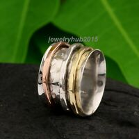 Solid 925 Sterling Silver Spinner Ring Meditation Ring Statement Ring Size se130