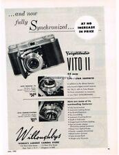1953 Voigtlander Vito II 35mm Folding Camera Vtg Print Ad