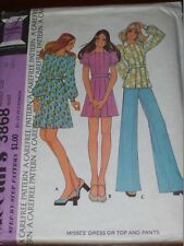 1973 McCALL'S #3868 - LADIES TWO LENGTH DRESS - TOP & FLARED PANTS PATTERN  10