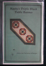 "Quilt Pattern: ""Kathy's Triple Block Table Runner"" by Calico Cat Patterns/Design"