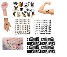 German Shepherd Dog  Collection Nail Stickers - Nail Art - Tattoos - Stencils