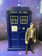 """DOCTOR WHO THE ELEVENTH DOCTORS 8"""" ELECTRONIC FLIGHT CONTROL TARDIS + DOCTOR"""