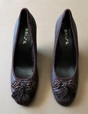 0bdfd53fa8e6  Immaculate Size 37 Unisa Tassel Decorated Brown Leather Women s Shoes