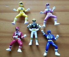 Lot of 5 Vintage MMPR Mighty Morphin Power Rangers PVC Mini Figures Bandai 1994