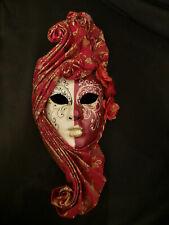 Masque vénitien Décoratif Rouge et Or