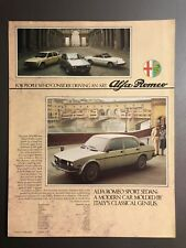 1978 Alfa Romeo Spider Veloce GTV6 and Alfetta Showroom Folder RARE!! Awesome