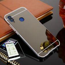 Pare-chocs en aluminium 2 pièces noir + 0,3 H9 verre pour Huawei P20