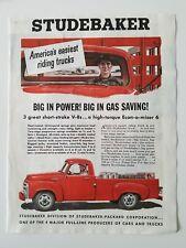 1955 red Studebaker pickup truck easiest riding trucks ad