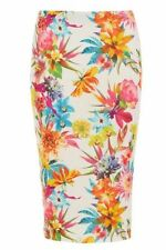 Knee Length Stretch, Bodycon Casual Floral Skirts for Women