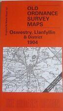 Old Ordnance Survey Maps Oswestry Llanfyllin & Dist & Plan Llanfyllin 1900/1904