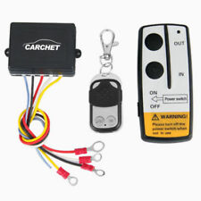 CARCHET Wireless Remote Control Winch Kit For Truck Jeep ATV Car 15M/50ft DC12V