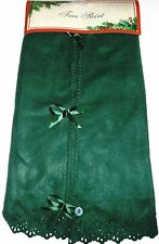"Christmas Tree Flee Skirt 48"" Green  Fleece New USA Seller"