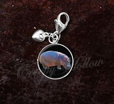 925 Sterling Silver Charm Hippopotamus Hippo Animal