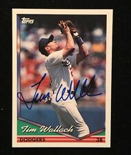TIM WALLACH 1994 TOPPS AUTOGRAPHED SIGNED AUTO BASEBALL CARD 143 DODGERS