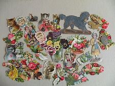 Lot of # 25 VTC Die Cuts All Sorts of Images and Sizes Late 1890's