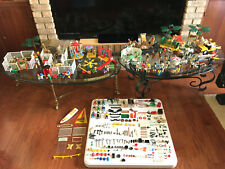 RARE Vintage 1974 - 81 PLAYMOBIL Huge Lot 15 Sets 800+ pcs Accessories & Extras