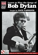 Learn to Play the Songs of Bob Dylan Guitar Legendary Licks Dvd Instru 002500918