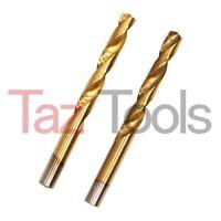 """2 pc 9/16"""" Titanium Coated Pro Twist Drill Bit HSS For Metal"""
