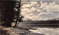 Lake McDonald Glacier National Park Montana 1940s RPPC Real Photo Postcard