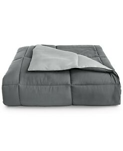 Martha Stewart TWIN / TWIN XL Comforter Down Alternative Reversible GREY E9Y067