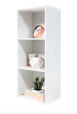 White 3 Tier Bookshelf Bookcase Shelves Modern Storage Display Home Study Office