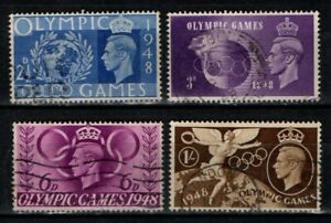 Great Britain GB 1948 Olympic Games set SG 495-98 Used