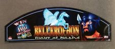 Bally Cinevision Video Slot Machine Glass BELLEROPHON FLIGHT OF PEGASUS