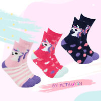Pack of 3 Pairs Ladies Fluffy Bed Slipper Socks Ankle Womens Lounge Socks Warm