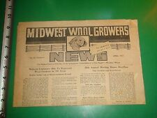 JD035 Vintage 1957 Issue of Midwest Wool Growers News Paper