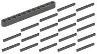 ☀️25x NEW LEGO Brick Dark Bluish Gray #32525 Technic Beam 1 x11 Studless Holes