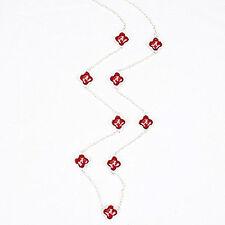 "Alabama crimson tide quatrefoil logo necklace 32"", red, women"