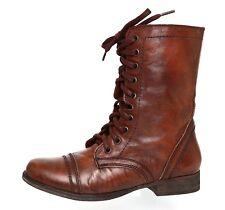 Steve Madden Troopa Leather Boot Brown Women Sz 6.5 M 4065 *