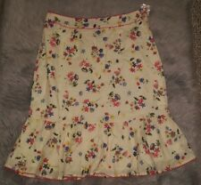 Nordstrom Multiples Cottage Floral Skirt Textured Women's Size 12 Cream