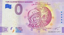 BILLET 0  EURO YURI ALEKSEYEVICH GAGARIN  RUSSIE  2021 NUMERO DIVERS