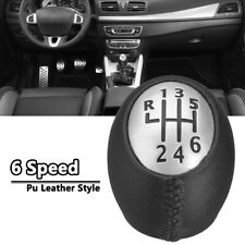 XUKEY 6 Speed PU Leather Gear Shift Knob For Renault Megane Scenic For Vauxhall