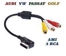 AUDI VW GOLF Passat AMI MDI MMI 3 RCA AUX Kabel Video Audio Adapter Cable Audi