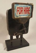 """Vintage """"For Hire"""" Argo Rickshaw Taxi Fare Meter - India Steampunk - Red F/B"""